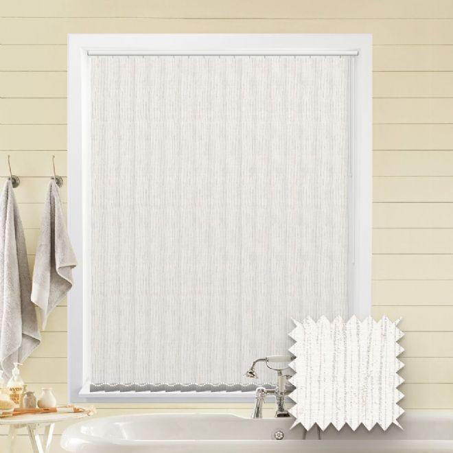 Made to Measure Tree Bark White Vertical Blind Pattern - Just Blinds